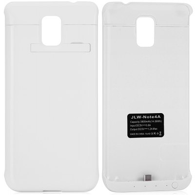Practical 3800mAh Power Bank Protective Case Backup Charger Holder with Indicator Light for Samsung Galaxy Note4 N9100