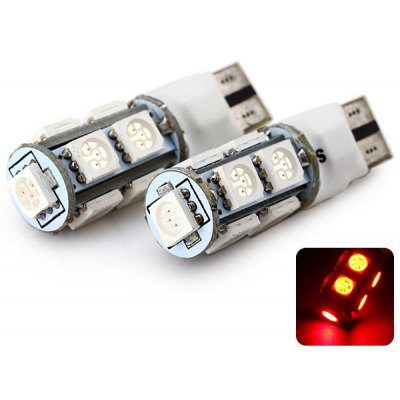 Sencart T10 5050 9 LEDs 2W Dual Mode 635 - 700nm Wavelength Red Light Car Clearance Light DC 12V (2 pcs)