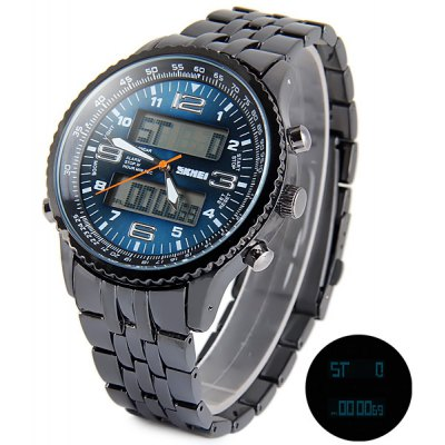 Skmei 1032 LED Watch Double Movt 3ATM Water Resistant Date Week Stopwatch Alarm