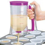Practical 4 - cup Capacity Cake Batter Dispenser with Scale Mark for Cupcakes Muffins