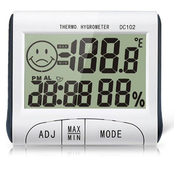 DC102 3 in 1 2.7 inch LCD Display Hygrothermograph Digital Clock Hygrometer Thermometer Multi - purp