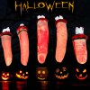 Halloween 5pcs Fake Broken Fingers with Phony Blood for Tricky Cosplay Party Decoration