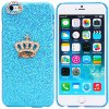 Fashionable Plastic Material Back Cover Case with Crown Pattern and Diamond Design for iPhone 6 Plus  -  5.5 inches