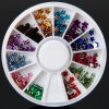 Multi - color Glitter Nail Sticker Plastic Flower Shape with Round Turning Case Small Size for Nail Art deal