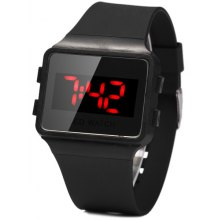 1PC LED Digital Watch Children Wristwatch Rubber Band Pin Buckle