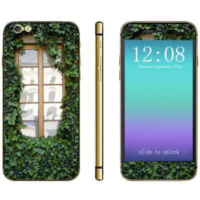 Leaves and Window Pattern Design Phone Decal Skin Protective Full Body Sticker for iPhone 6  -  4.7 inches
