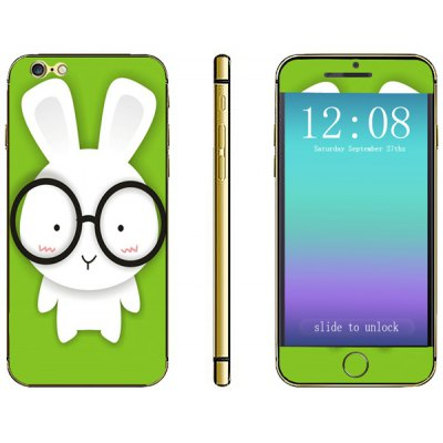 Rabbit Pattern Design Phone Decal Skin Protective Full Body Sticker for iPhone 6  -  4.7 inches