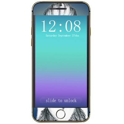 The Girl's Back Pattern Design Phone Decal Skin Protective Full Body Sticker for iPhone 6  -  4.7 inches
