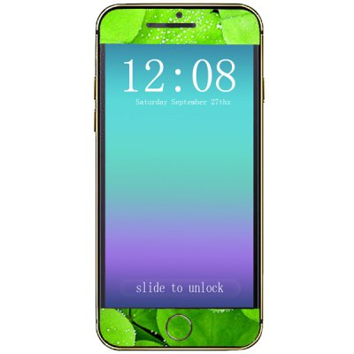 ФОТО Green Leaf Pattern Design Phone Decal Skin Protective Full Body Sticker for iPhone 6  -  4.7 inches