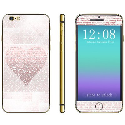 Heart Pattern Design Phone Decal Skin Protective Full Body Sticker for iPhone 6  -  4.7 inches