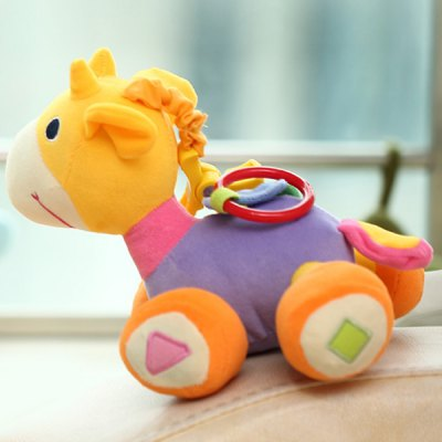 1Pc 18cm Plush Baby Horse Stuffed Toy Educational Toy- Purple