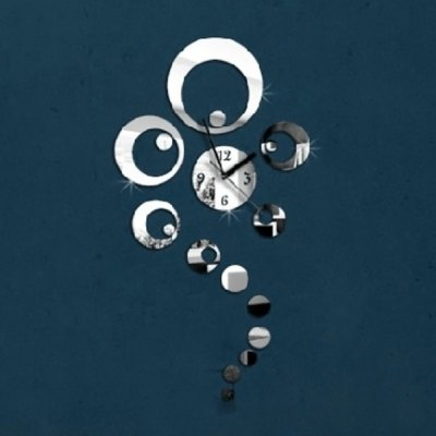 ФОТО Creative Home Appliances Decoration Wall Sticker with 3D Style Clock