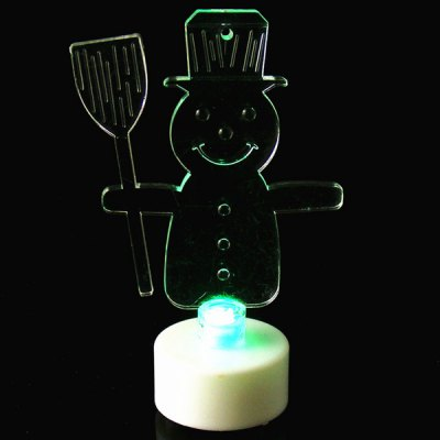 Фотография MY - 17Popular Snowman Shape Acrylic LED Electronic Candle with Color Flash Christmas Birthday Party Ornaments Ball Performance Festival Supplies Unique Gift