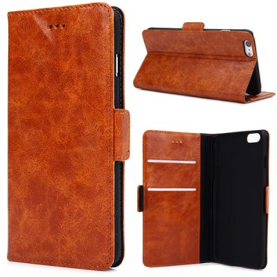 Oily Sense of Touch PC and PU Cover Case with Support and Card Holder for iPhone 6 Plus  -  5.5 inches