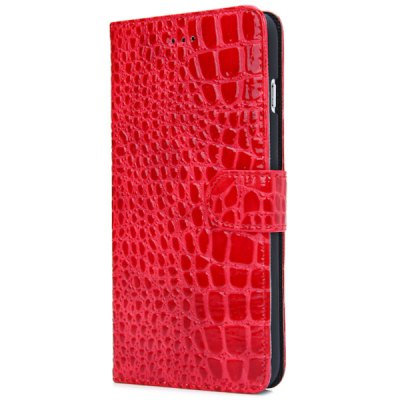 ФОТО Artificial Leather and Plastic Material Crocodile Texture Pattern Design Cover Case with Card Holder and Stand for iPhone 6 Plus  -  5.5 inches