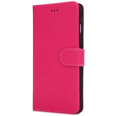 ФОТО Artificial Leather and Plastic Material Litchi Vein Pattern Design Cover Case with Card Holder and Stand for iPhone 6 Plus  -  5.5 inches