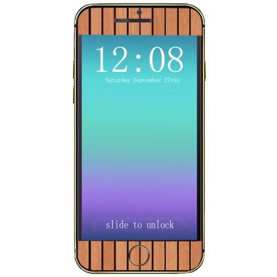 ФОТО Wood Grain Pattern Design Phone Decal Skin Protective Full Body Sticker for iPhone 6  -  4.7 inches