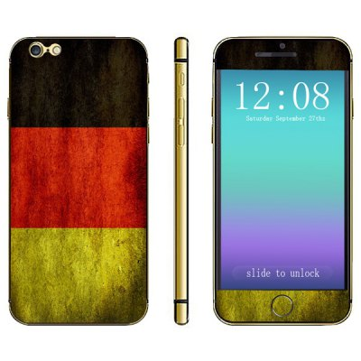 German Flag Pattern Design Phone Decal Skin Protective Full Body Sticker for iPhone 6  -  4.7 inches