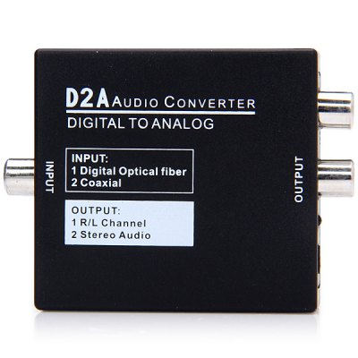 Гаджет   Multi - function Optical Coaxial Toslink Digital to Analog Audio Adapter for Home Theater Cables & Connectors