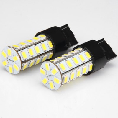 1 Pair Sencart 7440 T20 W21W W3X16D 20W 36 x SMD - 5730 White Light LED Car Reversing LampLED Light Bulbs<br>1 Pair Sencart 7440 T20 W21W W3X16D 20W 36 x SMD - 5730 White Light LED Car Reversing Lamp<br><br>Type: Car Light<br>Car light type: Turn Signal Light, Brake Light, Reversing lamp<br>Connector: T20(7440 7443)<br>LED: 36 x SMD-5730 LED<br>Available Light Color: Cold White<br>Wattage (W): 20<br>Voltage (V): DC 12-16V<br>Features: Easy to use, Low Power Consumption<br>Product weight: 11 g (1 pcs)<br>Package weight: 0.06 kg<br>Product size (L x W x H): 5.9 x 2 x 2 cm / 2.32 x 0.79 x 0.79 inches<br>Package size (L x W x H): 7 x 9 x 4 cm<br>Package Contents: 2 x Car Light