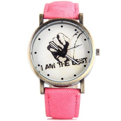 Thumb Quartz Watch Round Dial Leather Band for WomenWomens Watches<br>Thumb Quartz Watch Round Dial Leather Band for Women<br><br>Watches categories: Female table<br>Available color: White, Red, Brown, Blue<br>Style : Fashion&amp;Casual<br>Movement type: Quartz watch<br>Shape of the dial: Round<br>Display type: Analog<br>Case material: Steel<br>Case color: Coppery<br>Band material: Leather<br>Clasp type: Pin buckle<br>The dial thickness: 0.9 cm / 0.4 inches<br>The dial diameter: 3.8 cm / 1.4 inches<br>The band width: 1.9 cm / 0.7 inches<br>Product weight: 35 g<br>Product size (L x W x H) : 24 x 3.8 x 0.9 cm / 9.4 x 1.4 x 0.4 inches<br>Package contents: 1 x Watch