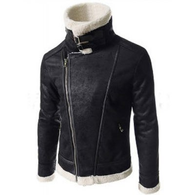 Modern Style Fur Collar Slimming Inclined Zipper Fly Solid Color Long Sleeves Mens PU Leather CoatMens Jakets &amp; Coats<br>Modern Style Fur Collar Slimming Inclined Zipper Fly Solid Color Long Sleeves Mens PU Leather Coat<br><br>Clothes Type: Fur &amp; Faux Fur<br>Material: Faux Leather, Wool<br>Collar: Turn-down Collar<br>Clothing Length: Regular<br>Style: Fashion<br>Weight: 0.856KG<br>Sleeve Length: Long Sleeves<br>Season: Winter<br>Package Contents: 1 x Coat