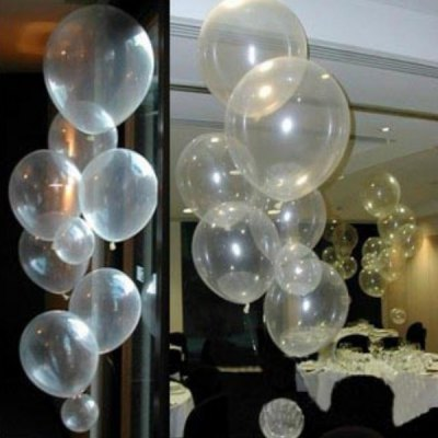 1pc Transparent Decorative Latex Balloon for Party Festival Wedding (18 Inches)