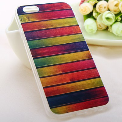 Гаджет   Fashionable TPU Material Colorful Stripe Pattern Back Cover Case for iPhone 6  -  4.7 inches