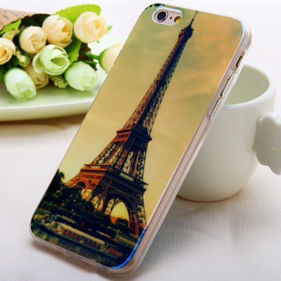 ФОТО Fashionable TPU Material Iron Tower Pattern Back Cover Case for iPhone 6  -  4.7 inches