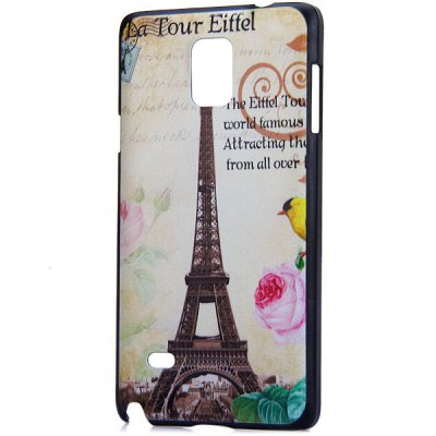 ФОТО Fashionable PC Material Iron Tower Pattern Back Cover Case for Samsung Galaxy Note 4 N9100