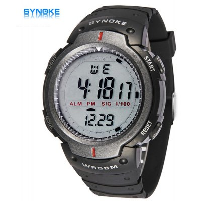Synoke LED Sports Military Watch 30M Water Resistant Stopwatch Week Alarm Date