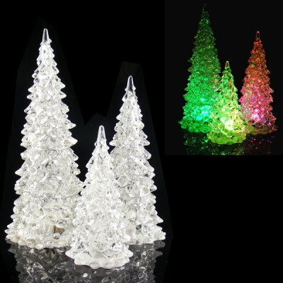 Гаджет   MY - 14 LED E -  Christmas Tree 3Pcs 3 Sizes Crystal Type Color Changing Tree for Christmas Decorations Christmas Supplies