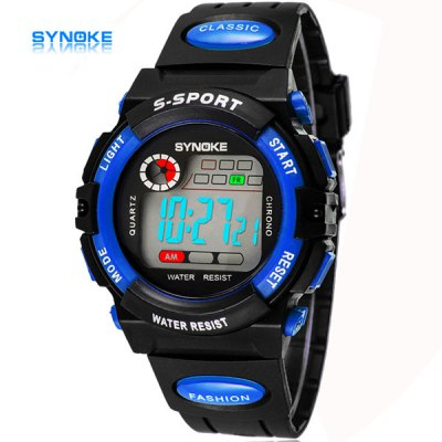 Synoke LED Sports Military Watch Christmas Gift Stopwatch Week Alarm Date for Children