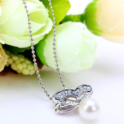 Elegant Style Butterfly Pattern with Ball Neck Chain for Ladies