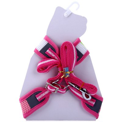 Practical 90cm Dog Cats Traction Leash Kit Adjustable Belly Collar Pets Harness