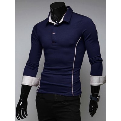 Simple Style Color Block Turn-down Collar Slimming Long Sleeves Mens Polo T-ShirtMens Long Sleeves Tees<br>Simple Style Color Block Turn-down Collar Slimming Long Sleeves Mens Polo T-Shirt<br><br>Material: Cotton, Polyester<br>Sleeve Length: Full<br>Collar: Turn-down Collar<br>Style: Casual<br>Weight: 0.5KG<br>Package Contents: 1 x Polo T-Shirt<br>Pattern Type: Solid