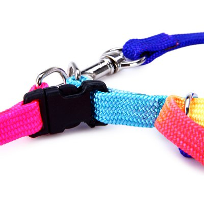 Фотография Practical 113cm Dog Cats Traction Leash Kit Colorful Adjustable Pets Harness