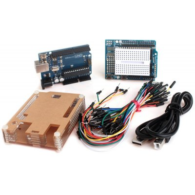 XD19 UNO R3 Development Board + Acrylic Case Box + Connect Cord Set Works with Arduino