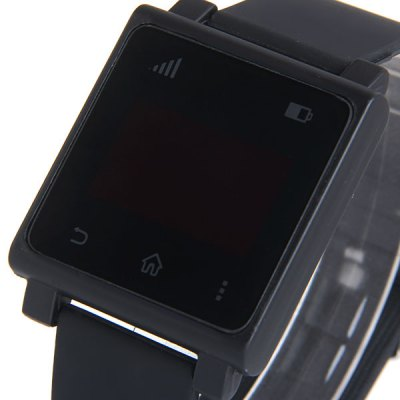 Фотография LED Touch Screen Watch Date Red Subtitles Rectangle Dial Rubber Band