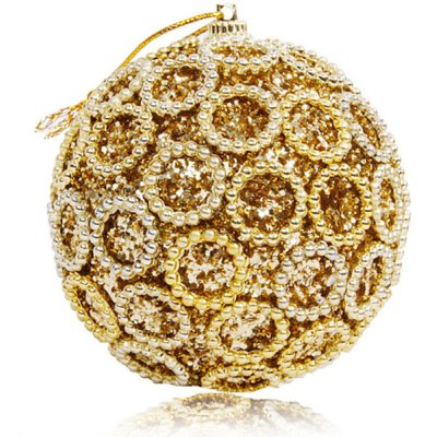 Delicate Christmas Tree Pendant 8cm Jewish Drilling Ball Christmas Ornament Party New Year Decoration Gift