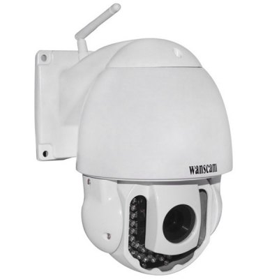 Wanscam HW0025 WIFI H.264 720P Night Vision IP CameraIP Cameras<br>Wanscam HW0025 WIFI H.264 720P Night Vision IP Camera<br><br>Model  : HW0025<br>Shape : Mini Camera<br>Technical Feature : Pan/Tilt/Zoom, Infrared<br>Mount Types: Wall bracket<br>IP camera performance : Support video control<br>Network Interface: RJ-45 (10/100Base-T)<br>Protocol: IP<br>Wireless : WiFi 802.11 b/g/n<br>Safety: Administrator password protection<br>Mobile Access: iPhone OS, Android<br>Video Compression Format: H.264<br>Image Sensor: CMOS<br>Pixels: 1000000 pixel<br>Infrared Distance: 40m<br>Exterior Material: Plastic<br>Environment: Indoor<br>Product Weight  : 1.65 kg<br>Package Weight  : 2.35 kg<br>Product Size (L x W x H) : 12.5 x 12.4 cm / 4.9 x 4.8 inches<br>Package Size (L x W x H)  : 27.8 x 26 x 19.5 cm<br>Package Contents: 1 x Camera, 1 x Charger, 1 x Cable, 4 x Screw, 1 x User Manual