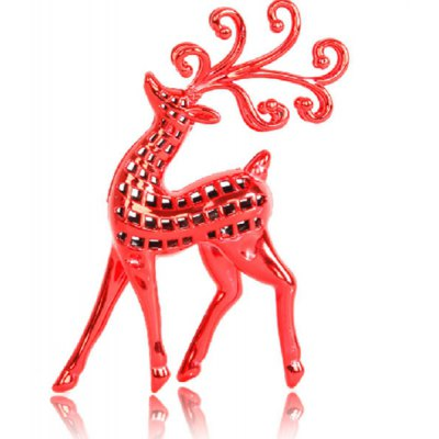 Exquisite Christmas Plastic Deer Desk Ornaments Birthday Party Festival Supplies Great Gift