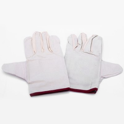 1 Pair Industrial Wear - Resisting Canvas Safety Gloves for Professional Work