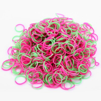 Гаджет   Green and Red Silicone Bracelet Crazy DIY Rubber Bands 600pcs with 26 Clips Home Gadgets