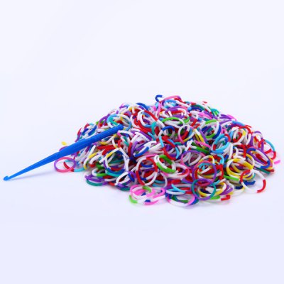 Colorful Silicone Bracelet Crazy DIY Rubber Bands 600pcs with 24 Clips