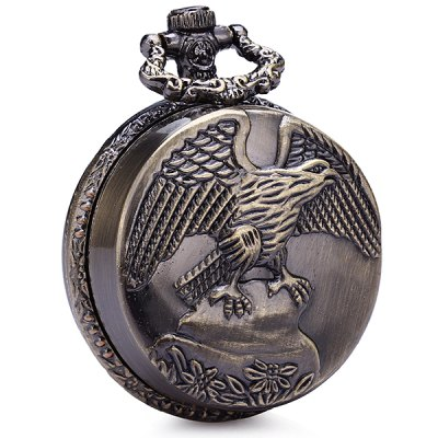 Round Shape Eagle Pattern Herb Grinder Tobacco Whet Machine with Magnetic