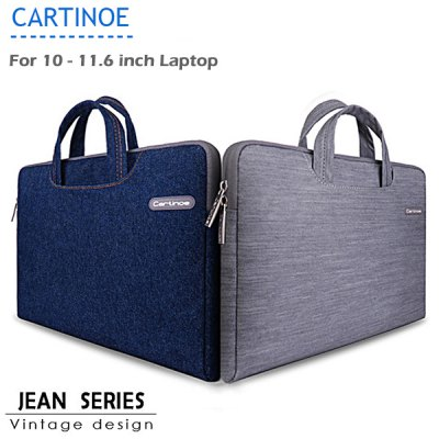 Cartinoe Notebook Laptop Sleeve Briefcase Inner Bag for 10  -  11.6 inch MacBook Air Lenovo Dell HP Asus Samsung Jean Series