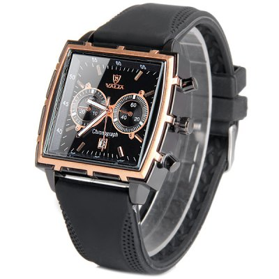 Valia Male Quartz Watch Date Rectangle Dial Rubber StrapMens Watches<br>Valia Male Quartz Watch Date Rectangle Dial Rubber Strap<br><br>Watches categories: Male table<br>Watch style: Business<br>Available color: Blue, Brown, Black, White<br>Movement type: Quartz watch<br>Shape of the dial: Rectangle<br>Display type: Analog<br>Case material: Stainless steel<br>Band material: Leather<br>Clasp type: Pin buckle<br>Special features: Decorating small sub-dials<br>Water Resistance: Life water resistant<br>The dial thickness: 1.0 cm / 0.4 inches<br>The dial diameter: 4.0 cm / 1.6 inches<br>The band width: 2.2 cm / 0.9 inches<br>Product weight: 0.076 kg<br>Product size (L x W x H): 26 x 4.0 x 1.0 cm / 10.2 x 1.6 x 0.4 inches<br>Package Contents: 1 x Watch