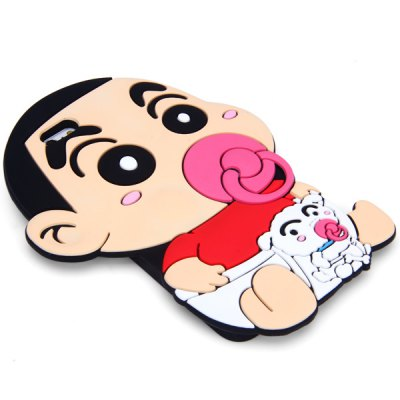 ФОТО Fashionable Crayon Shin - chan Pattern Silicone Material Back Cover Case for iPhone 6 Plus  -  5.5 inches