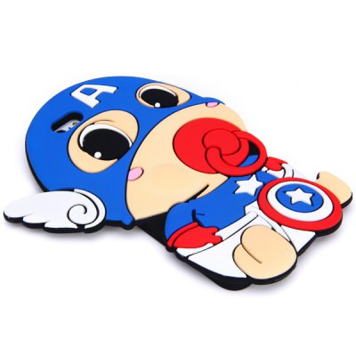 ФОТО Fashionable Captain America Pattern Silicone Material Back Cover Case for iPhone 6 Plus  -  5.5 inches